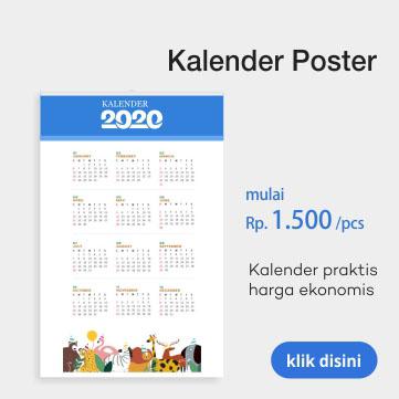 cetak kalender poster 2020 murah