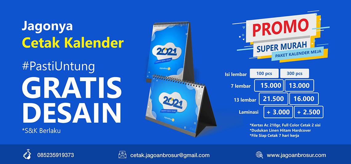 Cetak Kalender Meja 2021 - PROMO Mulai Rp. 10.000